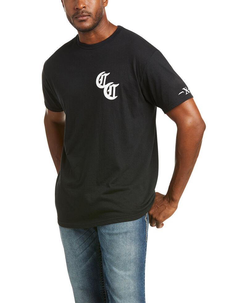 Ariat Men's Black Compton Cowboy Logo Graphic T-Shirt , Black, hi-res