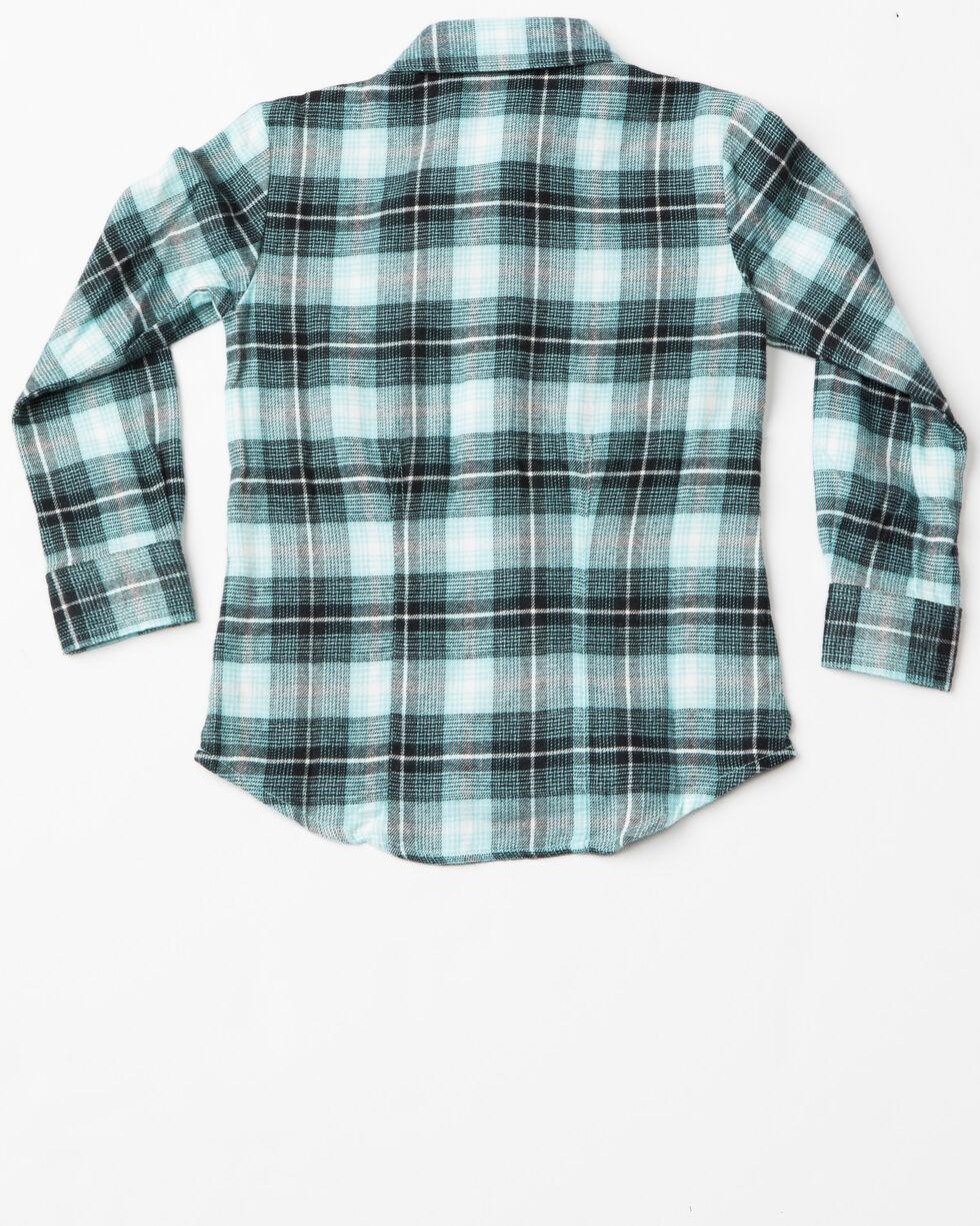 Cruel Girl Girls Brushed Twill Plaid Western Shirt , Blue, hi-res