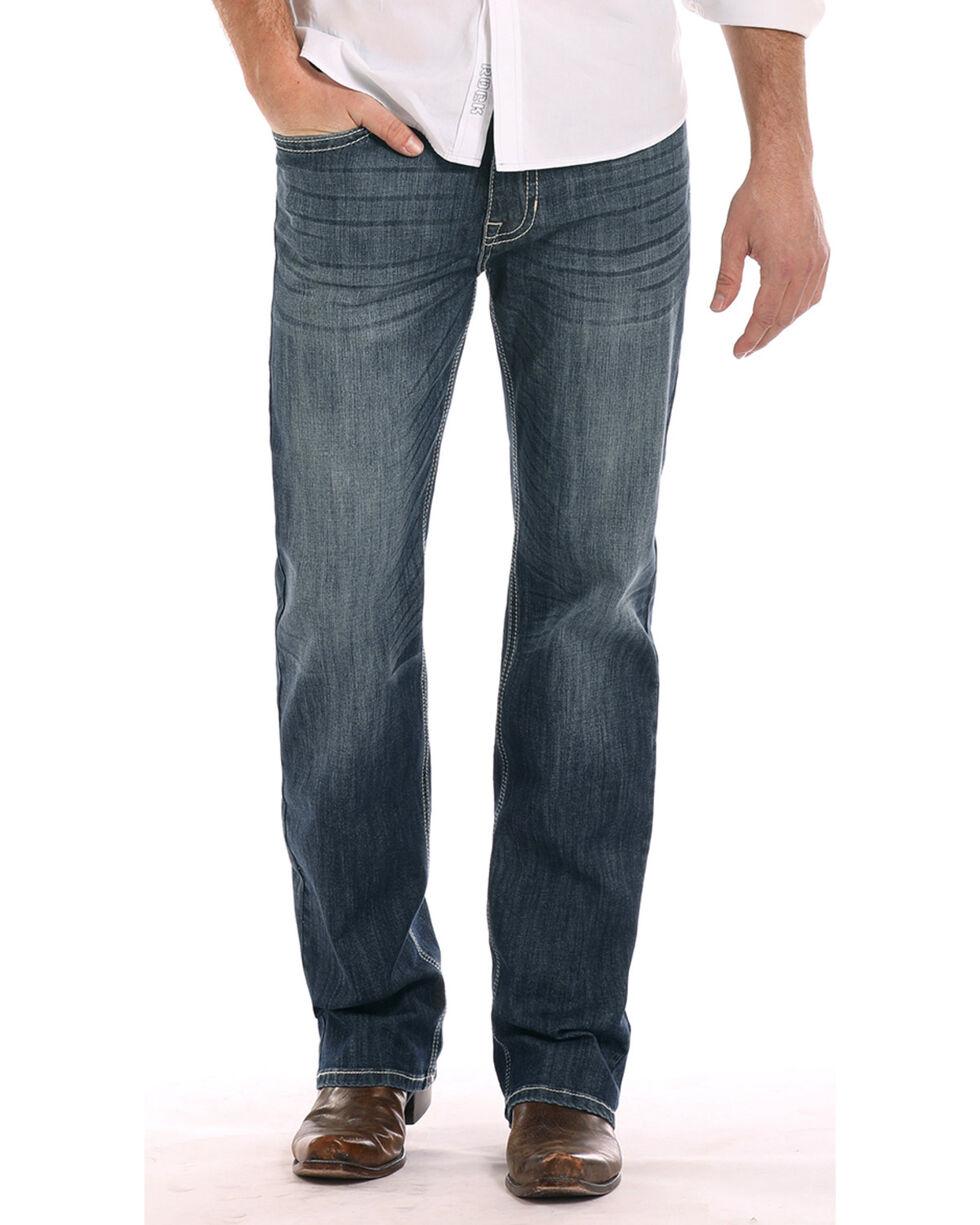 Rock & Roll Cowboy Men's Reflex Double Barrel Jeans, Dark Blue, hi-res
