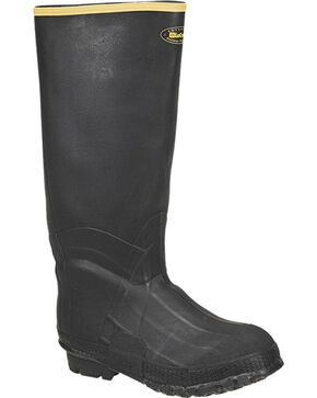 LaCrosse Men's ZXT Knee Insulated Rubber Boots, Black, hi-res