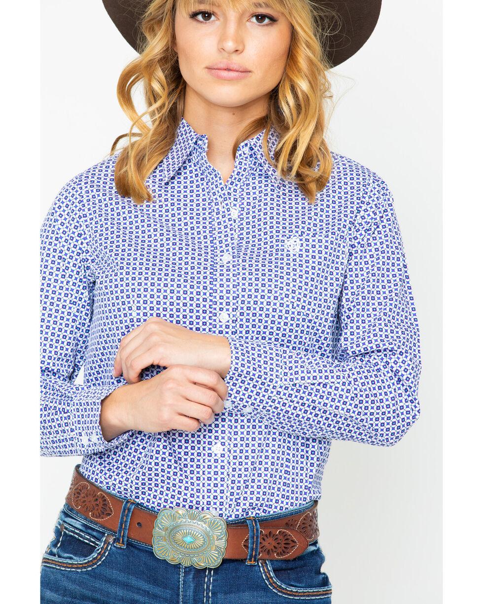 George Strait by Wrangler Women's Purple Long Sleeve Western Shirt, Purple, hi-res