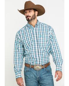 Ariat Men's Wrinkle Free Meadow Plaid Long Sleeve Western Shirt - Big , Multi, hi-res