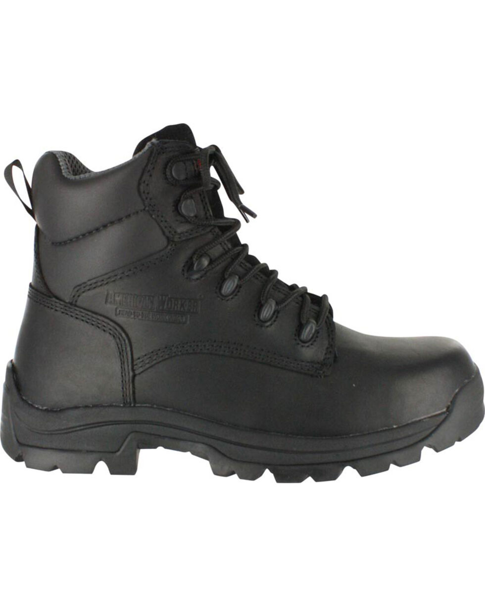 American Worker® Men's Stealth Work Boots, Black, hi-res