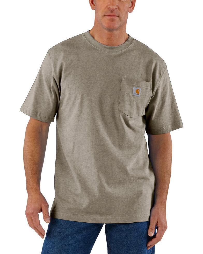 Carhartt Short Sleeve Pocket Work T-Shirt - Big & Tall, Tan, hi-res