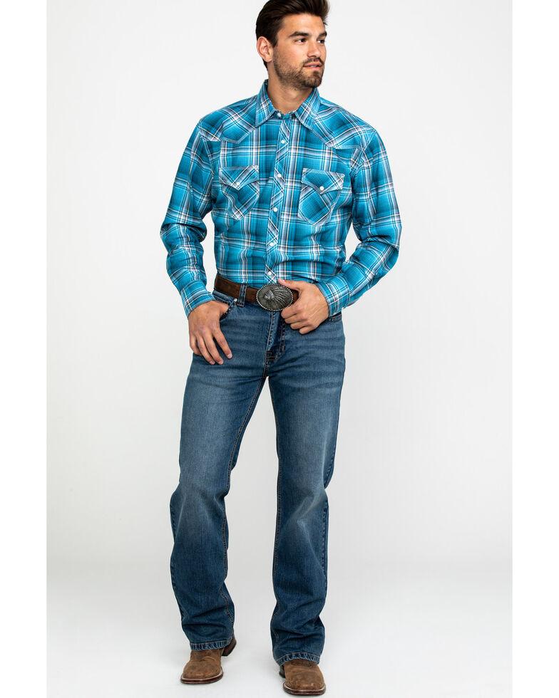 Wrangler 20X Men's Advanced Comfort Plaid Long Sleeve Western Shirt , , hi-res