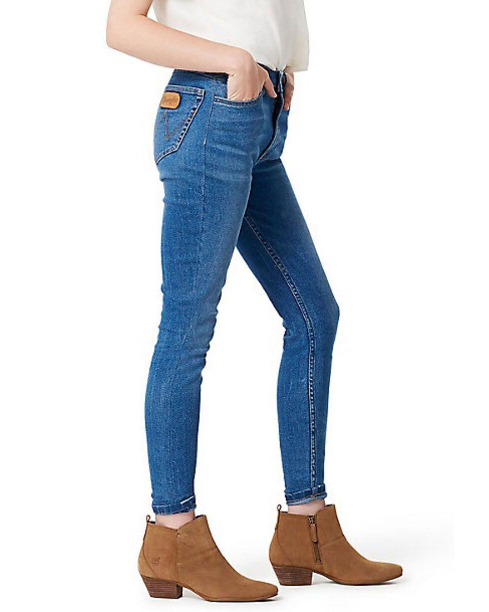 Wrangler Women's Modern Throwback Blue High Rise Skinny Jeans, Indigo, hi-res