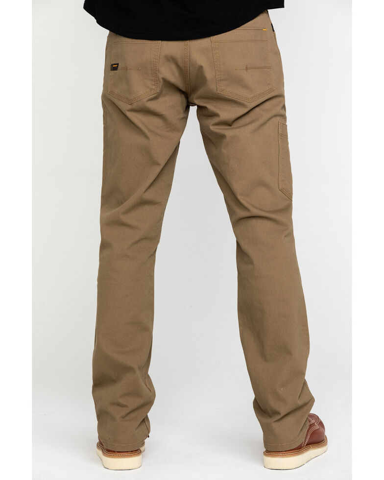 Ariat Men's Khaki Rebar M4 Made Tough Durastretch Straight Leg Work Pants , Beige/khaki, hi-res
