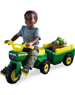 John Deere Trike & Wagon Set, Green, hi-res