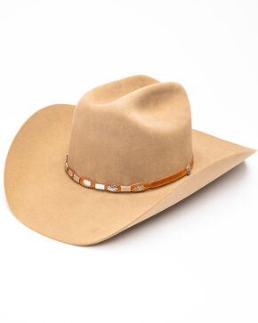 Stetson Men's High Roller Fawn Western Hat, Lt Brown, hi-res