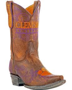 Gameday Women's Clemson University Cowgirl Boots - Snip Toe, Brass, hi-res