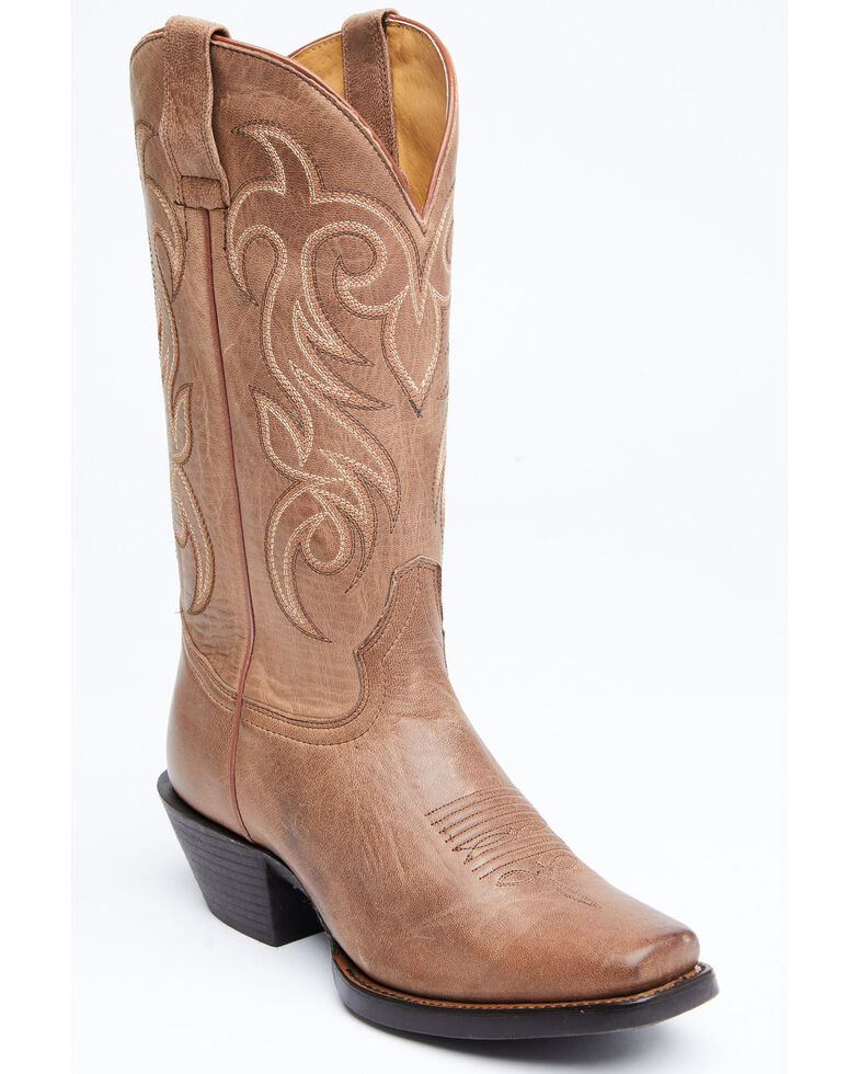 Shyanne Women's Wren Western Boots - Square Toe, Brown, hi-res