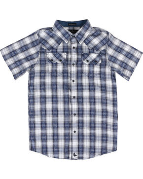 Cody James® Boys' Rattler Short Sleeve Shirt, Navy, hi-res
