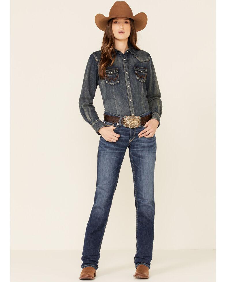 Ariat Women's Myla Straight Leg Jeans, Blue, hi-res