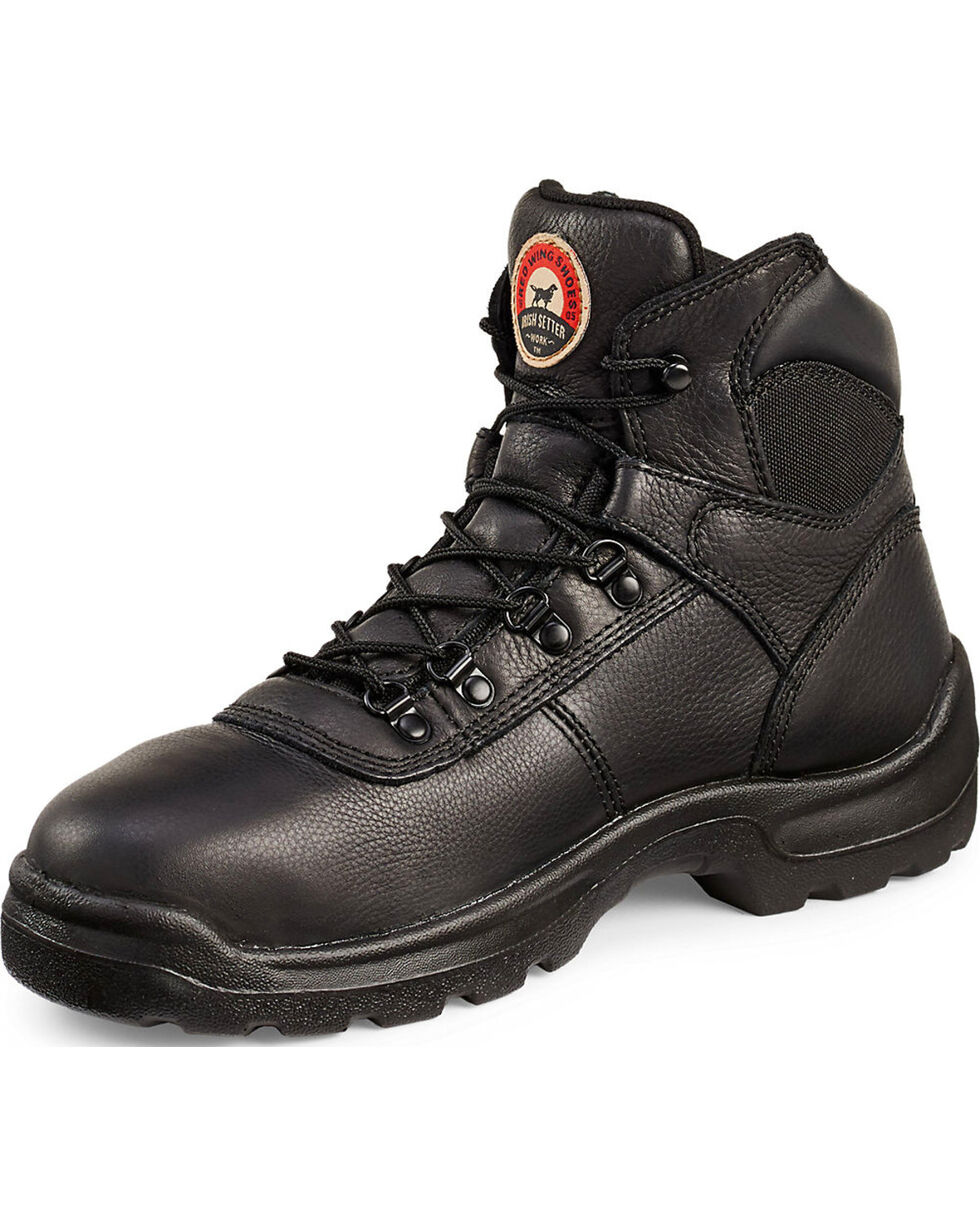 "Irish Setter by Red Wing Shoes Men's Ely 6"" EH Work Boots - Steel Toe, Black, hi-res"