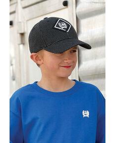 Cinch Boys' Black Textured Ball Cap , Black, hi-res