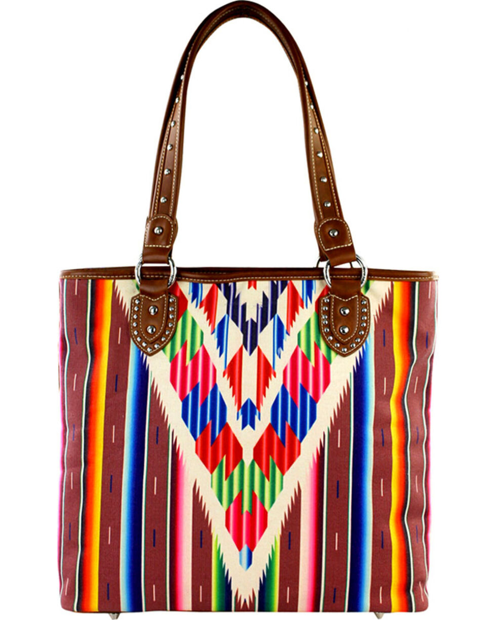 Montana West Serape Concealed Handgun Collection, Red, hi-res