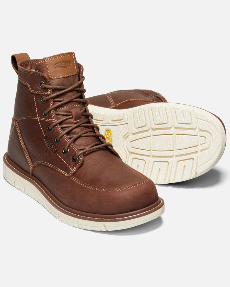 Keen Men's San Jose Work Boots - Soft Toe, Lt Brown, hi-res