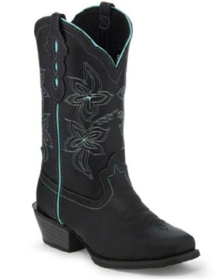 Justin Women's Buffalo Western Boots - Square Toe, Black, hi-res