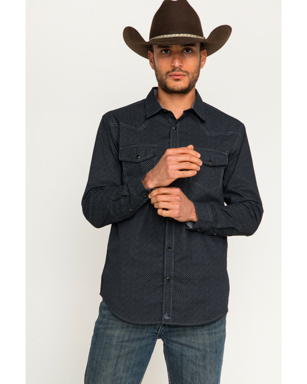 Cody James Men's Marble Falls Long Sleeve Shirt, Black, hi-res