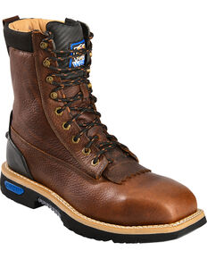 Cinch® WRX Men's Waterproof Steel Toe Lace-Up Work Boots, Brown, hi-res