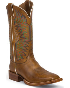 Justin Men's Sierra CPX Western Boots, Tan, hi-res