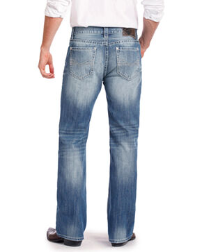 Rock & Roll Cowboy Men's Double Barrel Relaxed Fit Jeans - Straight Leg, Blue, hi-res