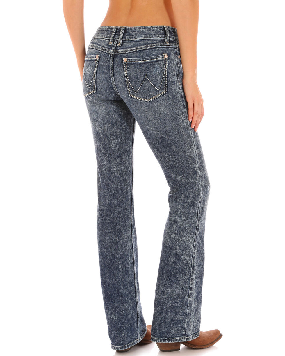 Wrangler Women's Bleach Wash Retro Sadie Jeans , Indigo, hi-res