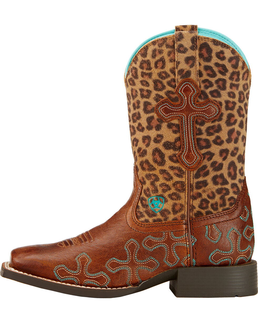 Ariat Kid's Crossroads Western Boots, Wood, hi-res