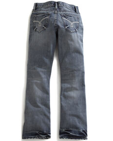 Tin Haul Men's Jagger Fit Triple Stitch Bootcut Jeans, Denim, hi-res