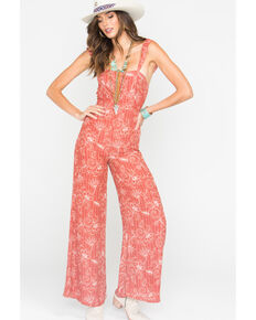 Sage the Label Red Alegra Jumpsuit , Light Red, hi-res