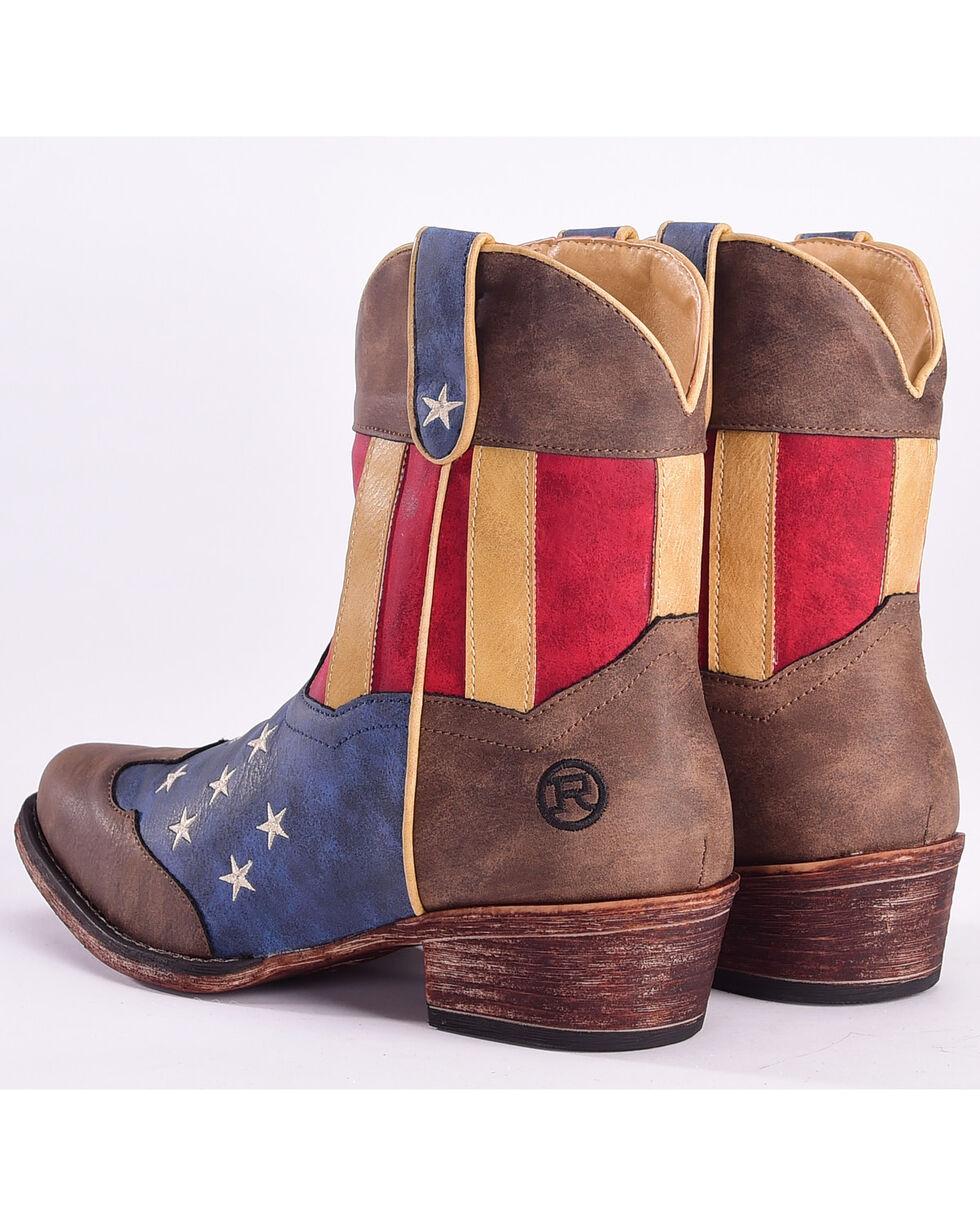 Roper Women's American Flag Short Boots - Snip Toe , Multi, hi-res