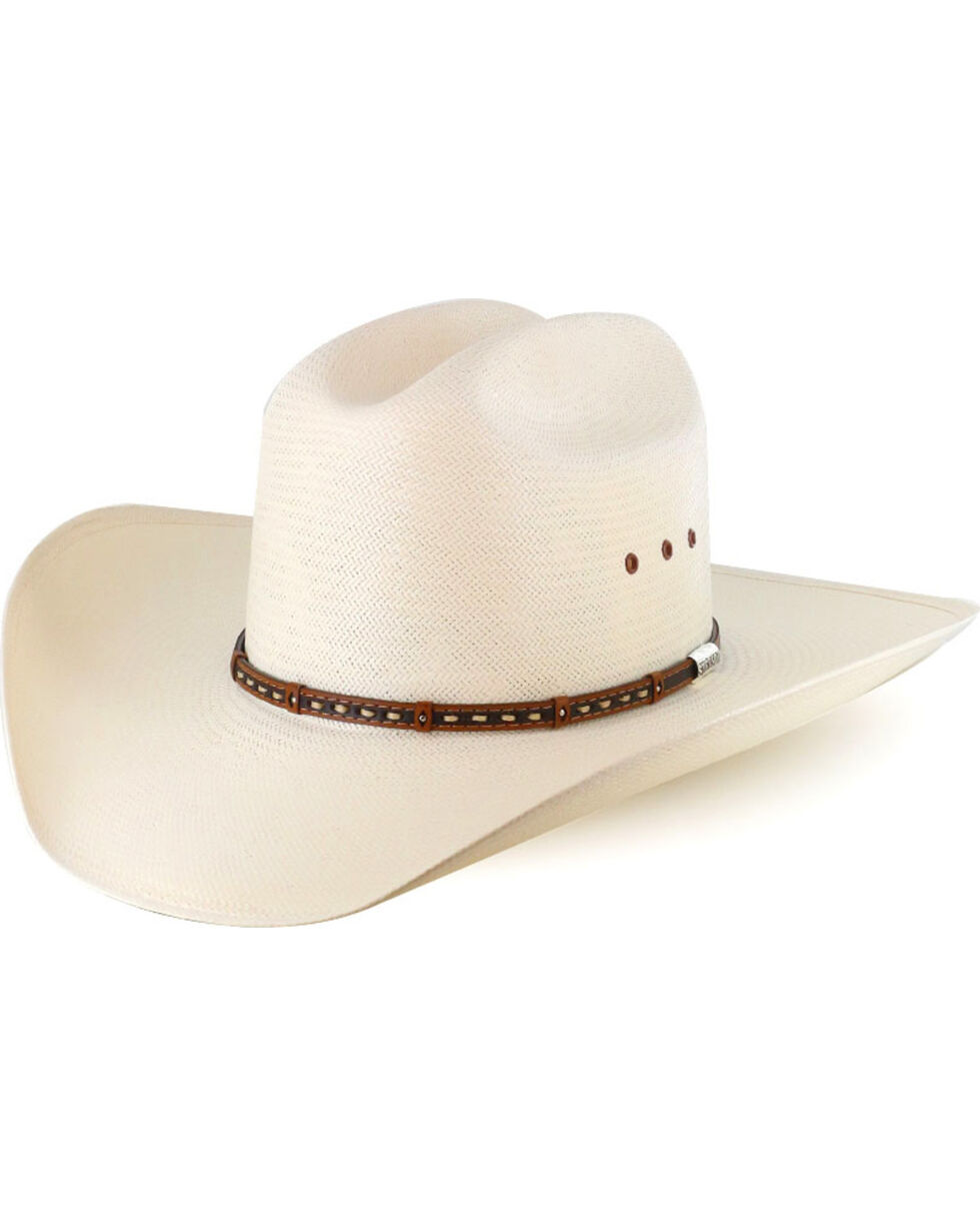 Stetson Hats Men's Decorated Hat Band Straw Hat, Natural, hi-res