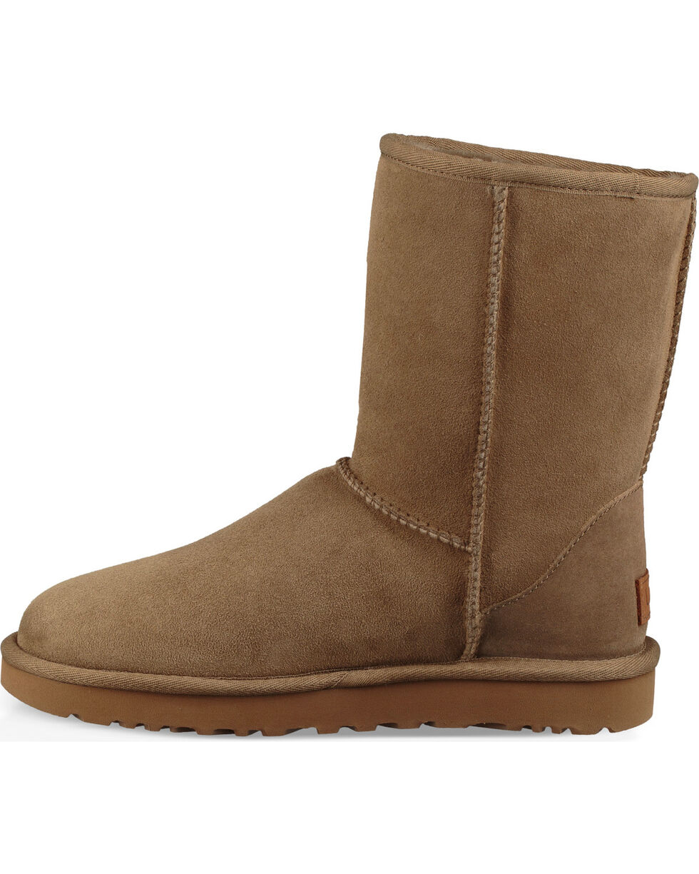 UGG Women's Brown Classic II Short Boots - Round Toe , Brown, hi-res
