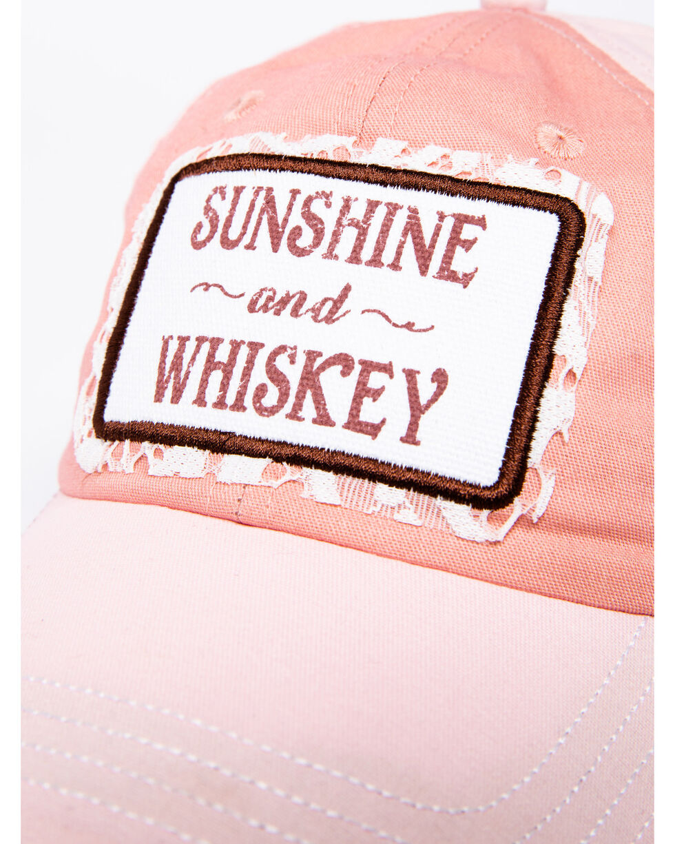 Shyanne Women's Sunshine and Whiskey Cap, Pink, hi-res