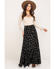 Free People Women's Ruby's Forever Maxi Skirt, Black, hi-res