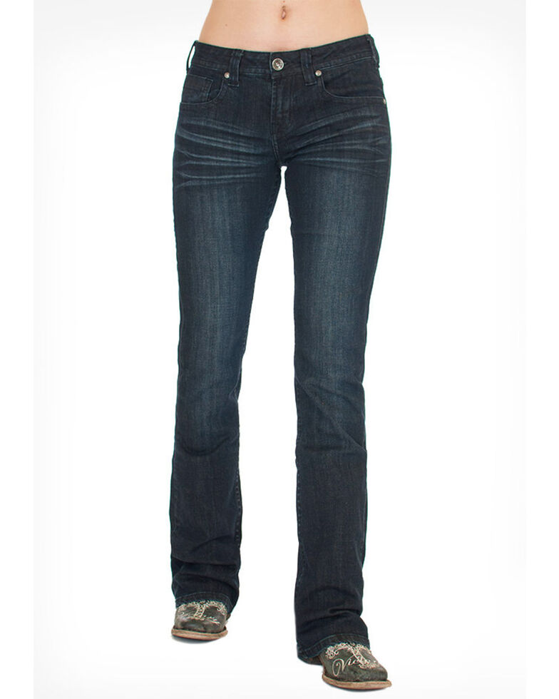 Cowgirl Tuff Women's Forever Tuff Jeans, Dark Blue, hi-res