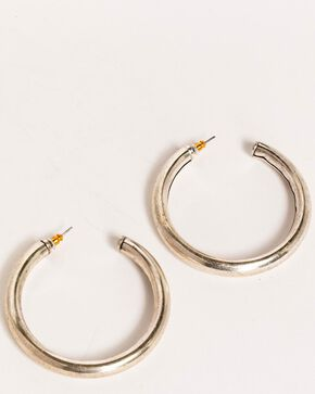 Idyllwind Women's Big Tex Trustie Hoop Earrings, Silver, hi-res