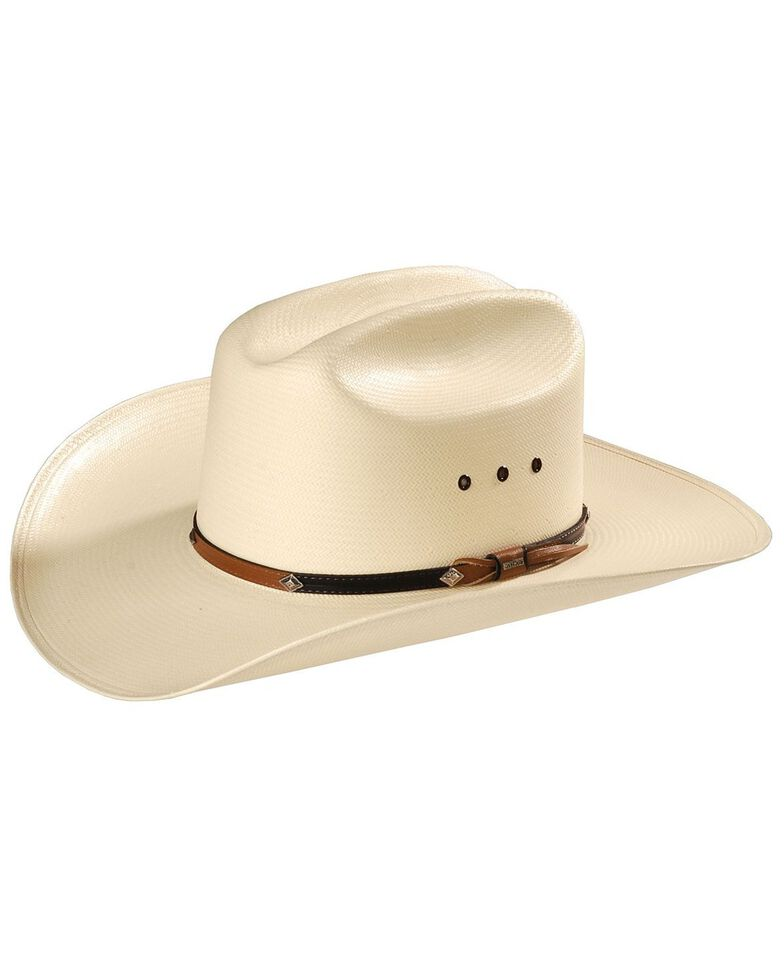 Stetson Hats Men's Grant Straw Hat, Natural, hi-res