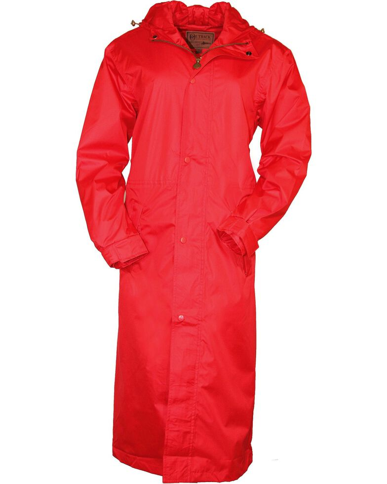 Outback Unisex Pak-A-Roo Duster Jacket, Red, hi-res