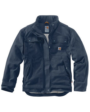 Carhartt Men's Flame-Resistant Full Swing Quick Duck Coat - Big & Tall, Navy, hi-res