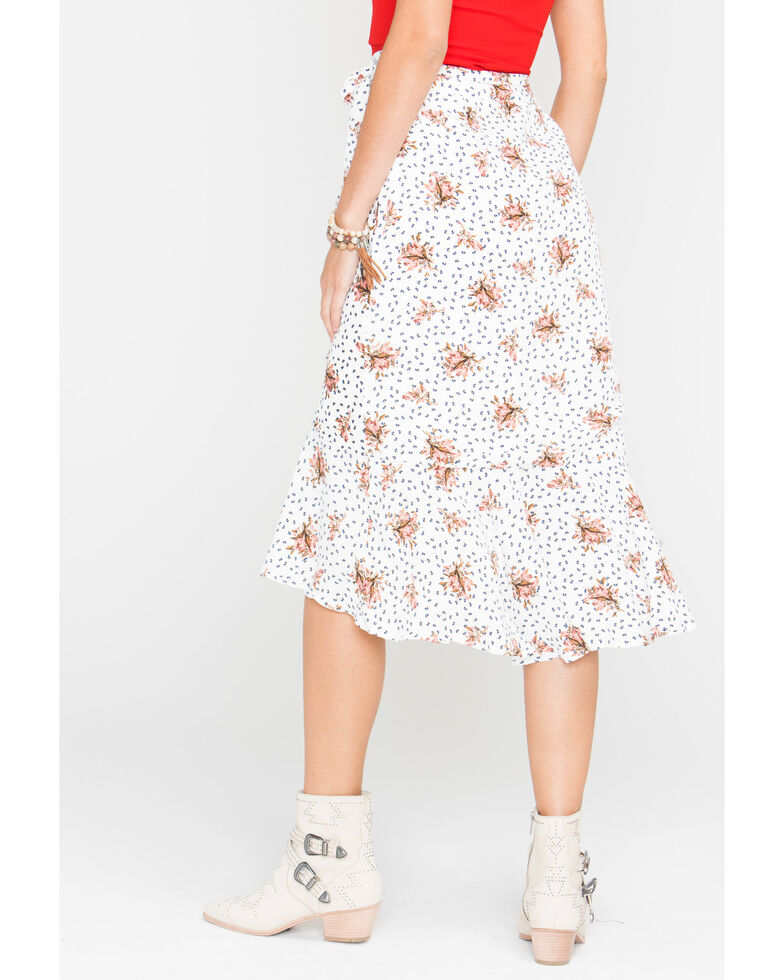 Sage the Label Cream Place In The Sun Skirt , White, hi-res