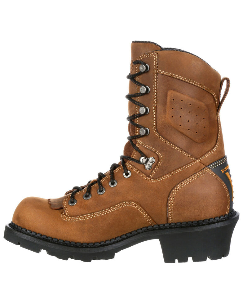 Georgia Boot Men's Comfort Core Waterproof Logger Boots - Composite Safety Toe, Brown, hi-res