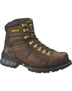 CAT Men's Endure Work Boots, Oak, hi-res
