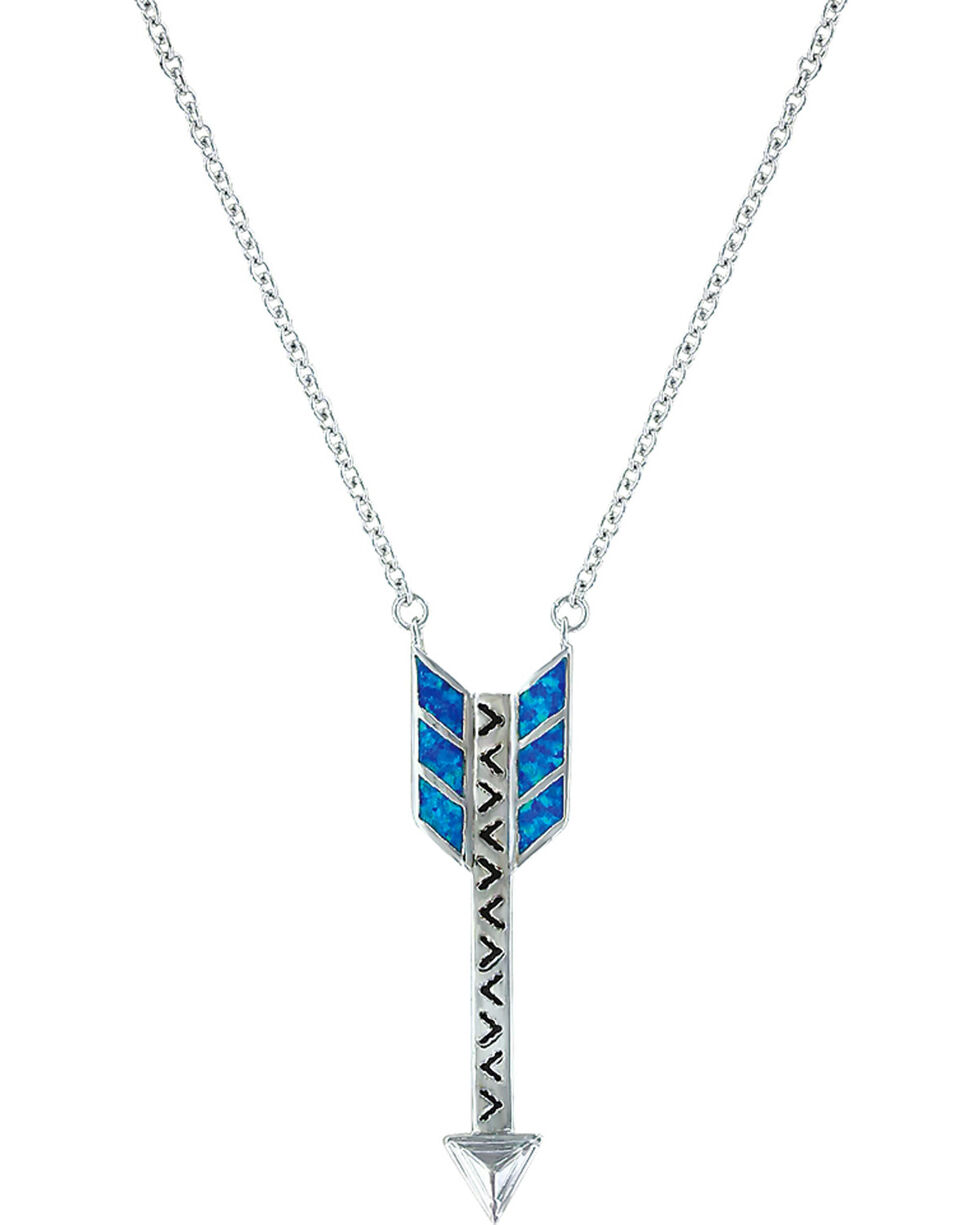 Montana Silversmiths Women Sky Fletched Arrow Necklace, Silver, hi-res