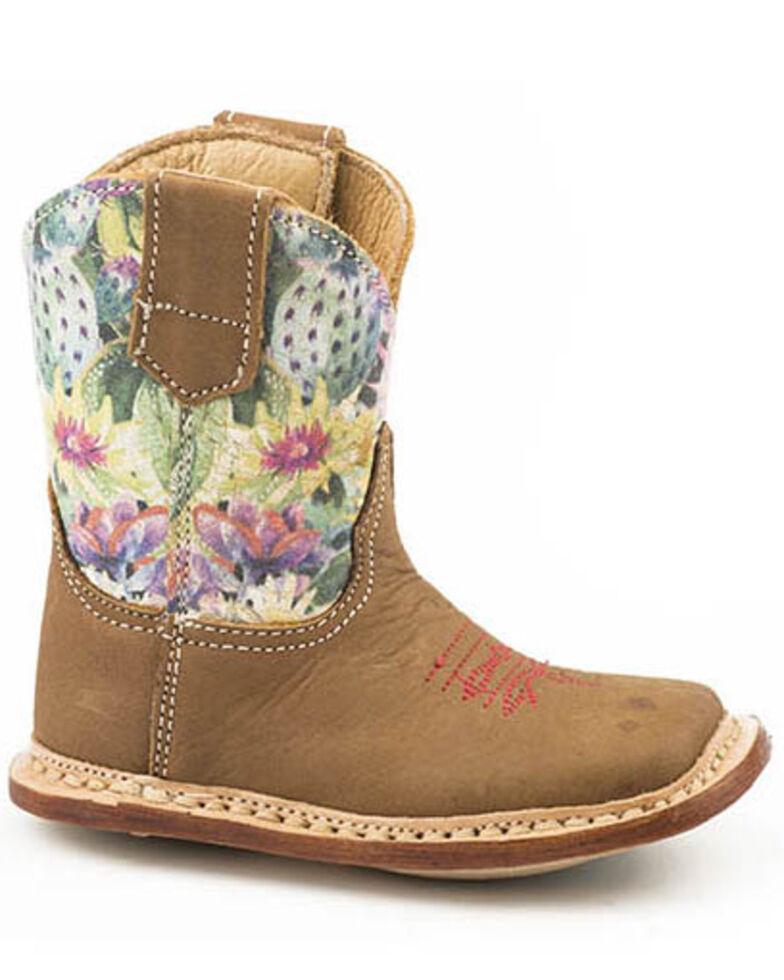 Roper Toddler Boys' Cactus Western Boots - Square Toe, Tan, hi-res