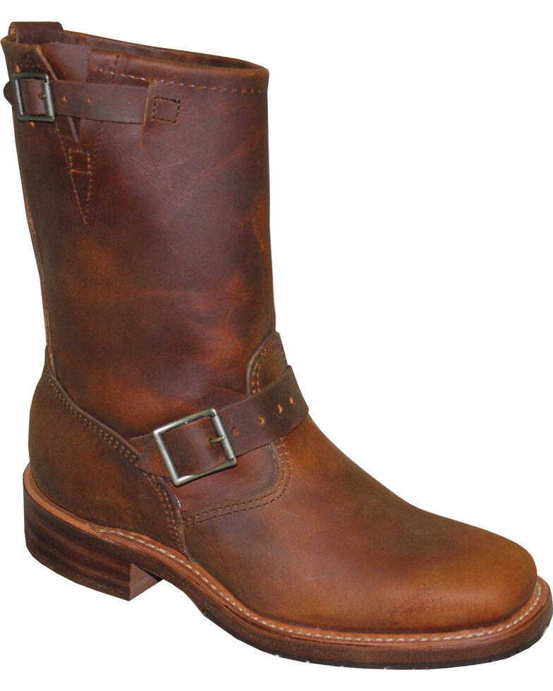 """Sage by Abilene Men's 11"""" Engineer Boots - Square Toe, Tan, hi-res"""