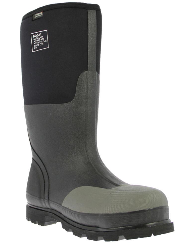 Bogs Men's Steel Toe Rancher Muck Boots, Black, hi-res