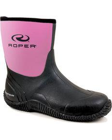 Roper Women's Neoprene Barn Boots, Pink, hi-res