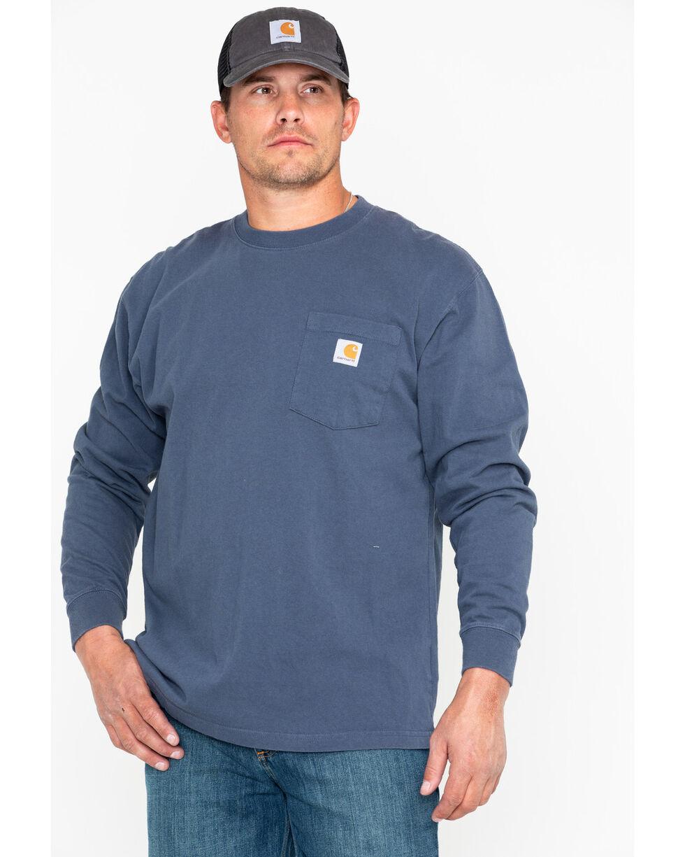 Carhartt Men's Long Sleeve Work T-Shirt, Steel Blue, hi-res