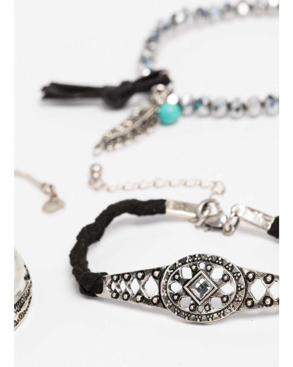 Shyanne Women's Engraved 3 Pack Bracelet Set , Silver, hi-res